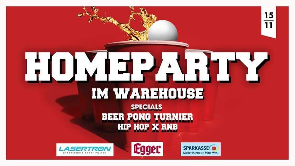 Homeparty im Warehouse // Beer Pong Battle